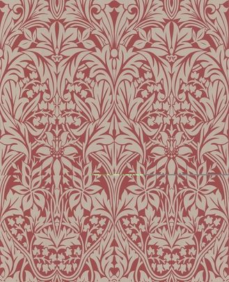 Manor House : Red & Gold Wallpaper