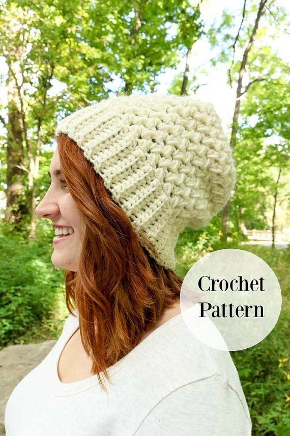 Textured Bulky Hat || HEDWIG BEANIE || Crochet Pattern   // Easy technique to achieve the wide ribbed brim look // Infinite clusters for striking visual appeal // Difficulty: Surprisingly easy (seriously!) // Pattern comes with exclusive coupon for savings from www.weareknitters.com // Samples made with we are knitters The Petite Wool and Patons Roving  **TL Yarn Crafts #1 Best Selling Pattern  // This listing is for a complete PDF crochet pattern, not a finished piece or any supplies. You…