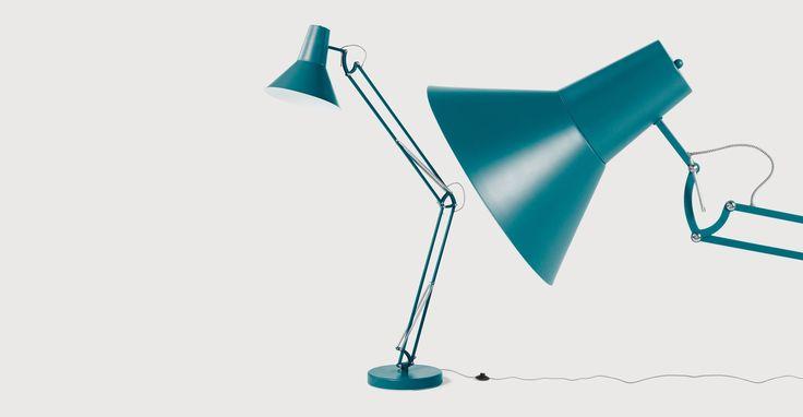Bronx Giant Floor Lamp, Matt Teal