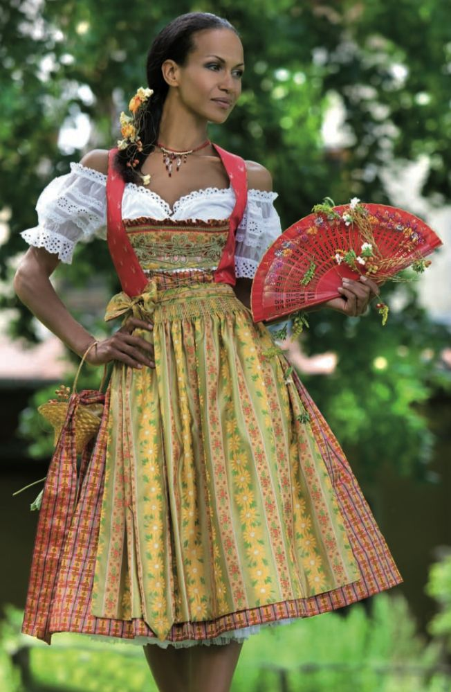 Traditional German Womens Dress With Elegant Type In ...