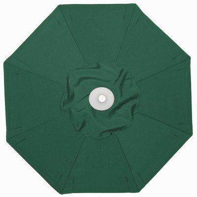Galtech 3.5 x 7 ft. Half Wall Aluminum Sunbrella Umbrella Sunbrella Forest Green - 772AB-52, Durable