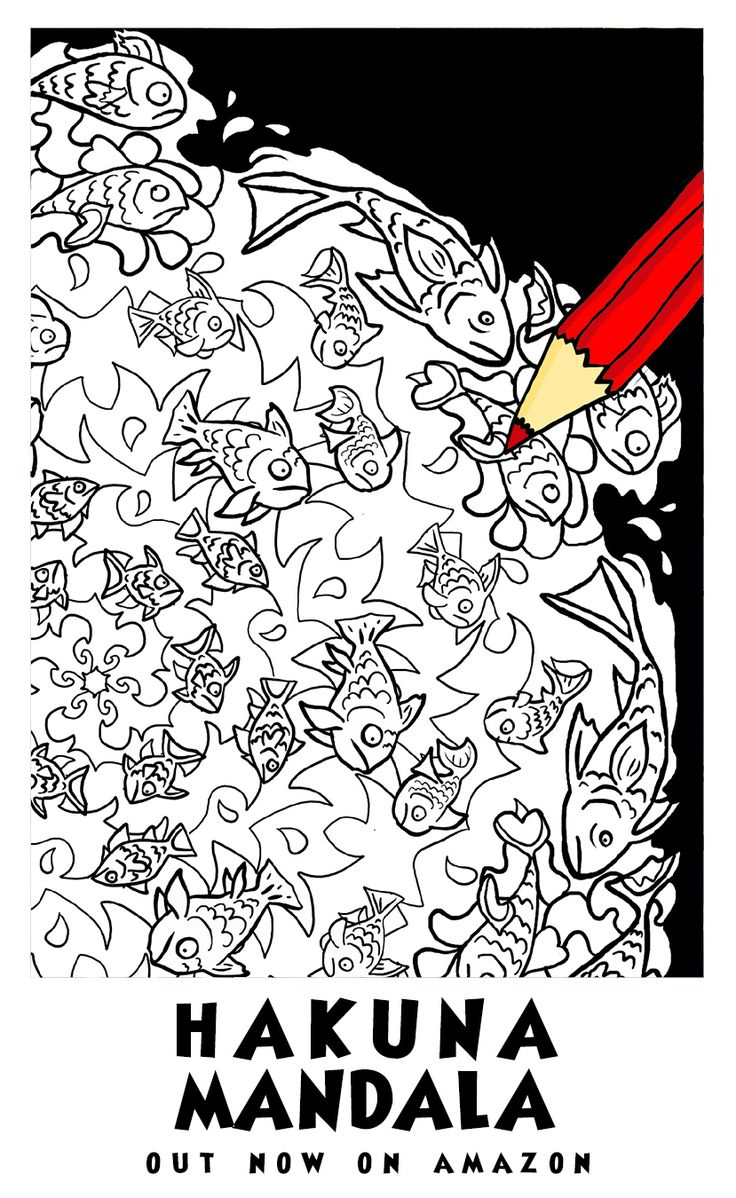 Creative anti stress colouring book - Image From Hakuna Mandala Anti Stress Colouring Book Illustrated By Antony Briggs Out Now