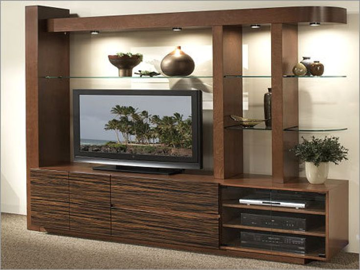 32 best images about lcd tv cabinets design on pinterest for Lcd wall unit designs for hall