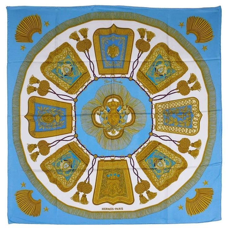 Gorgeous Hermes Poste et Cavalerie Silk Scarf | From a collection of rare vintage scarves at https://www.1stdibs.com/fashion/accessories/scarves/