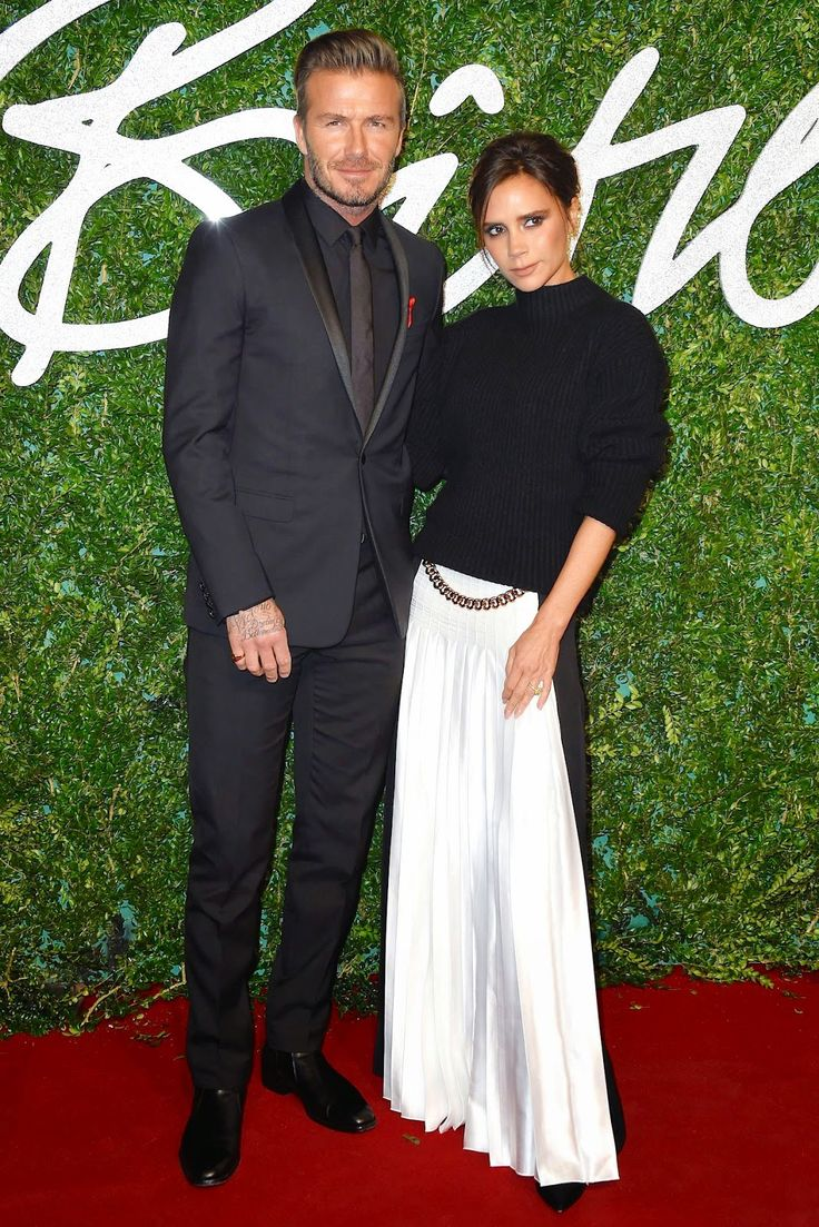 David Beckham in Dior Homme two nights in a row... http://www.whats-he-wearing.com/2014/12/victoria-beckham-with-david-beckham-in-dior-homme-black-tuxedo-2014-british-fashion-awards-london.html