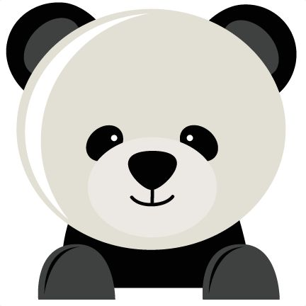 Panda Bear SVG fiel for scrapbooking panda bear svg cut file for cutting machines cute svg cuts