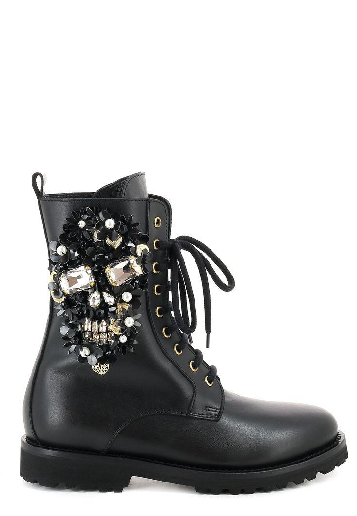 Черные Ботинки PHILIPP PLEIN - купить по цене 49950 рублей, арт. SW031216 - Elyts.ru
