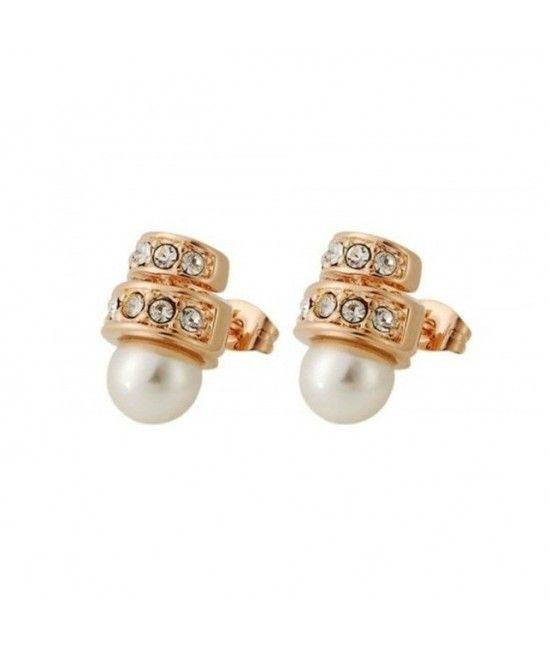 Cerceii Pearl Shell au un design rafinat si elegant, sunt decorati cu perle si cristale translucide. Reprezinta alegerea potrivita pentru tinutele office, elegante, dar vor adauga o nota distinctiva si outifturilor smart casual.Acesti cercei sunt cadoul p