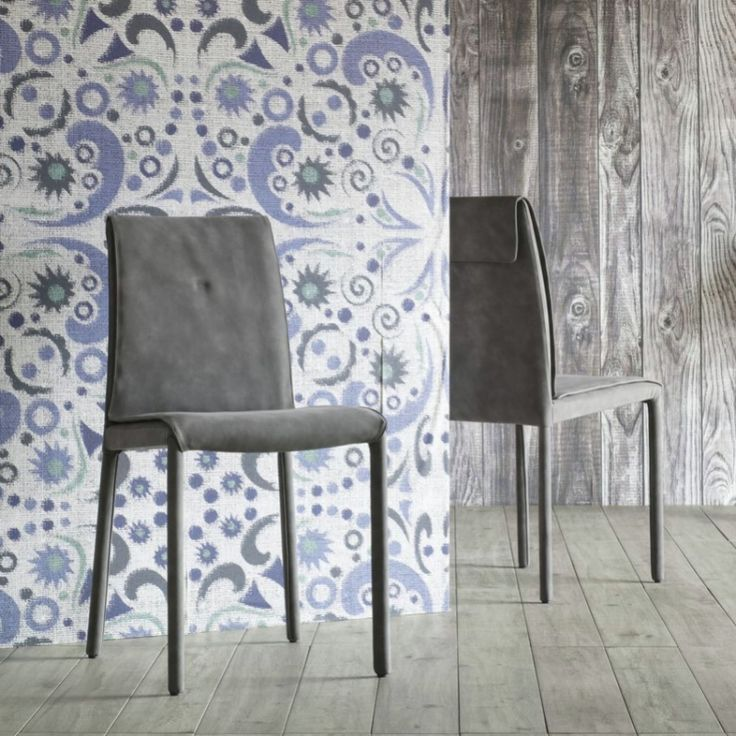 u0027Ameliau0027 Upholstered chair with double stitching on