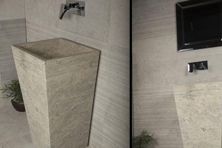 Exclusive bathroom design... Veromar brand at sinks and floors!  #VeromarLxryMarble #marble #tile #mosaic #italianmarble #italiandesign #italianstyle #italiandecor #interiordesign #bathroomdesign #homedecor #homestyle #homeinterior #мрамор  #плитка #mastersoflxry #elledecor #травертин