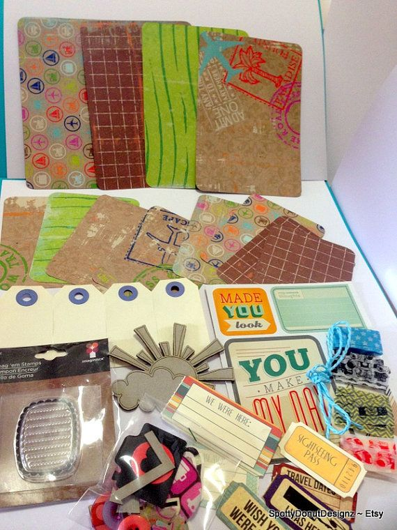 TRAVELLING- Travel Theme -Scrapbooking, page kits, project life, Pocker Pages, FREE POST on Etsy, $14.50 AUD