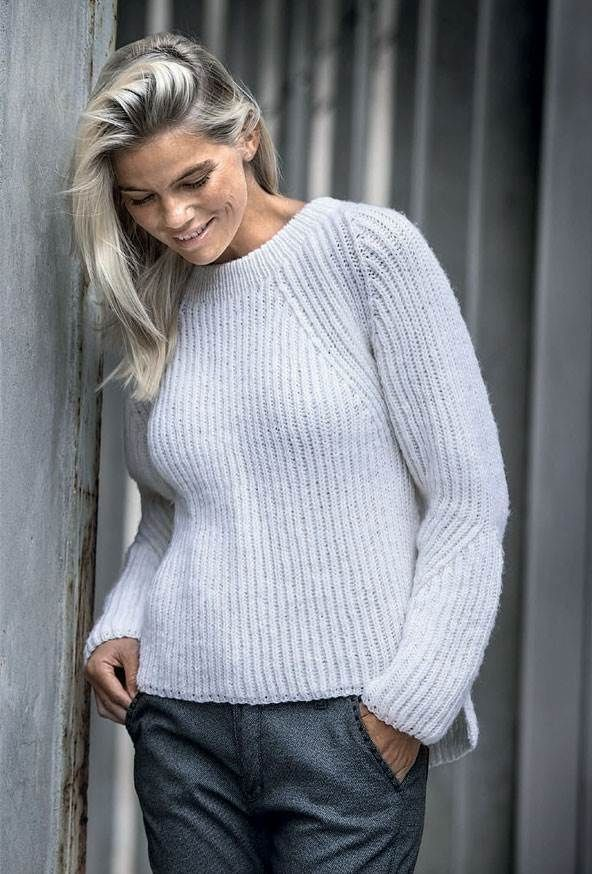 Patentstrikket sweater strikkeopskrift