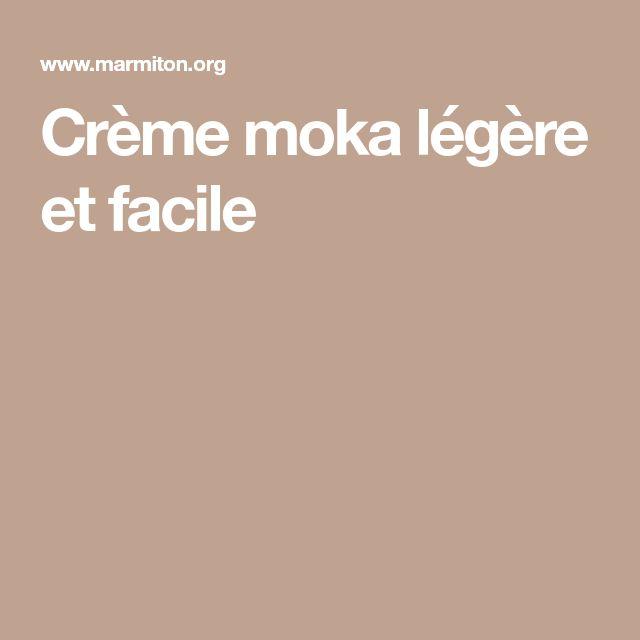Crème moka légère et facile