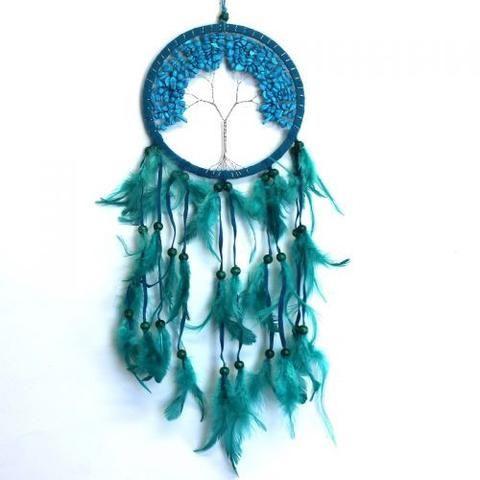 Turquoise Tree Of Life Dream Catcher