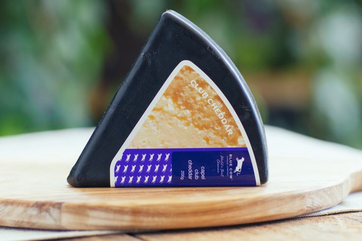 Blue Cow Capel Club Cheddar - Made from milk sourced from Capel, WA, This is a traditional  club style cheese.  Matured for 4 months, the paste is dense  and the flavour creamy, with just a hint of acid on the back palate.