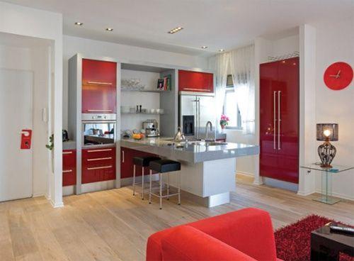 Modern Red White Interior Designarchitechome