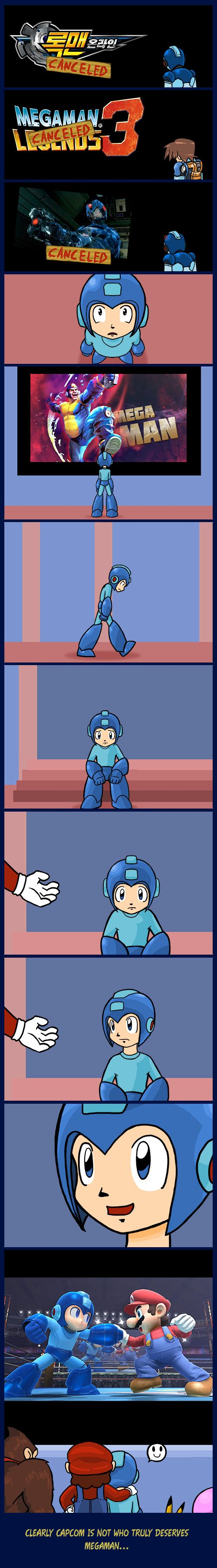 Capcom, why are you treating my little blue pal this way?
