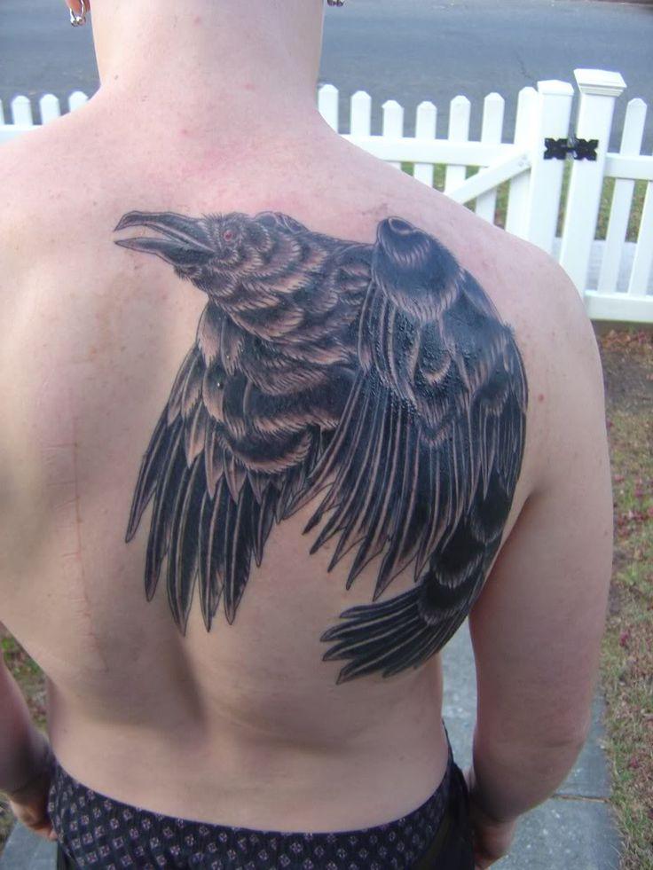 83 best images about raven tattoos on pinterest ribs. Black Bedroom Furniture Sets. Home Design Ideas