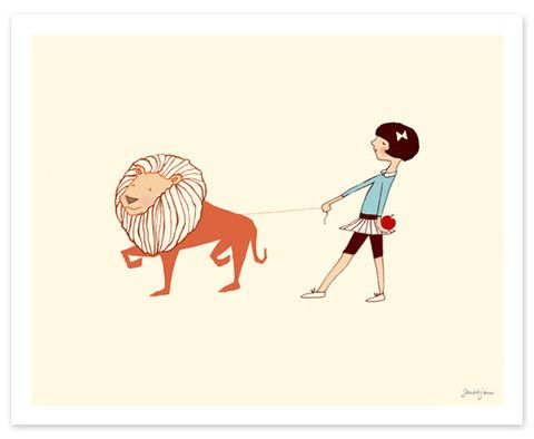 Take Me For a Walk (Girl)- sarah jane has the cutest nursery prints