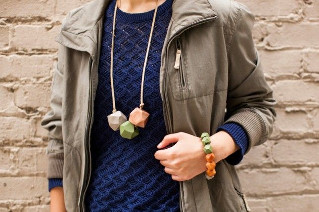 Get Your Bead On! DIY Geode Statement Jewelry via Brit + Co.