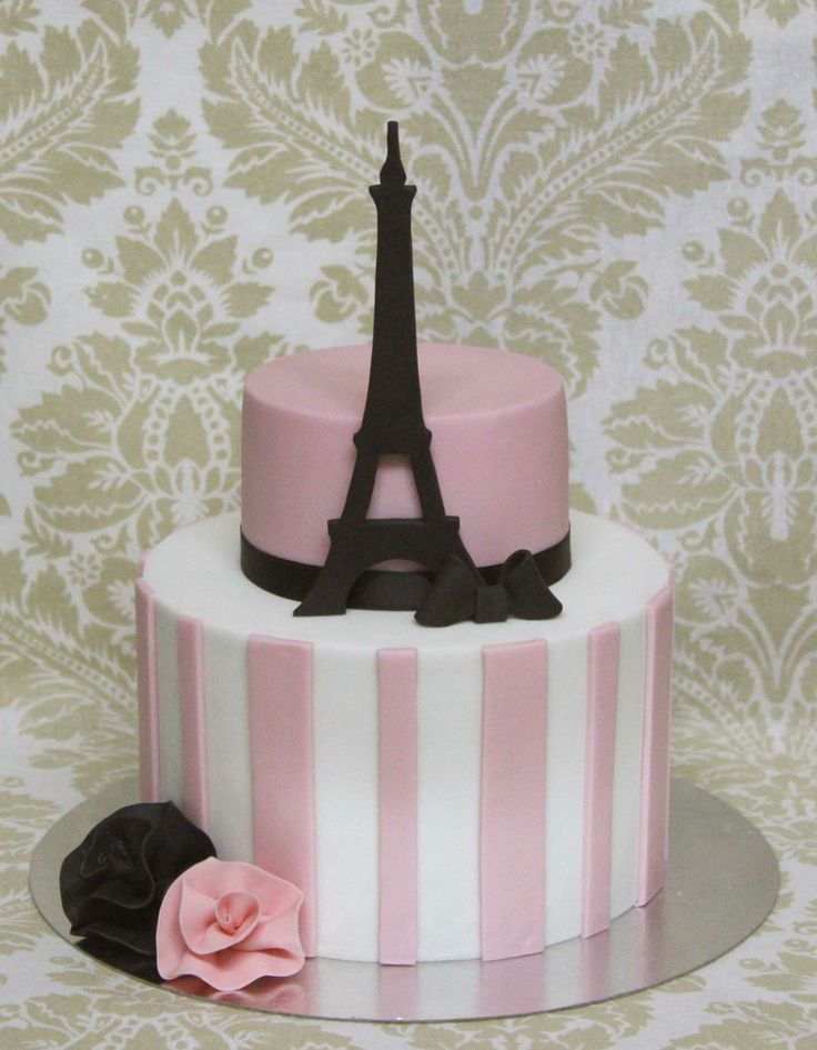 Paris Cake for Bridal Shower