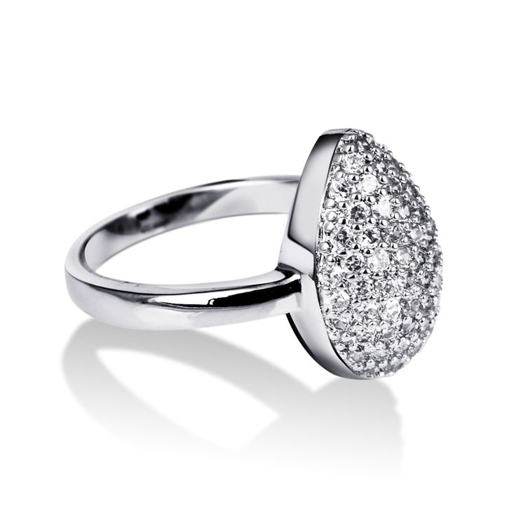 New Arrival Fashion Romantic Design Women Ring Rhodium Plated AA Cubic Zirconia Micro Pave Setting Lead Free Nickel