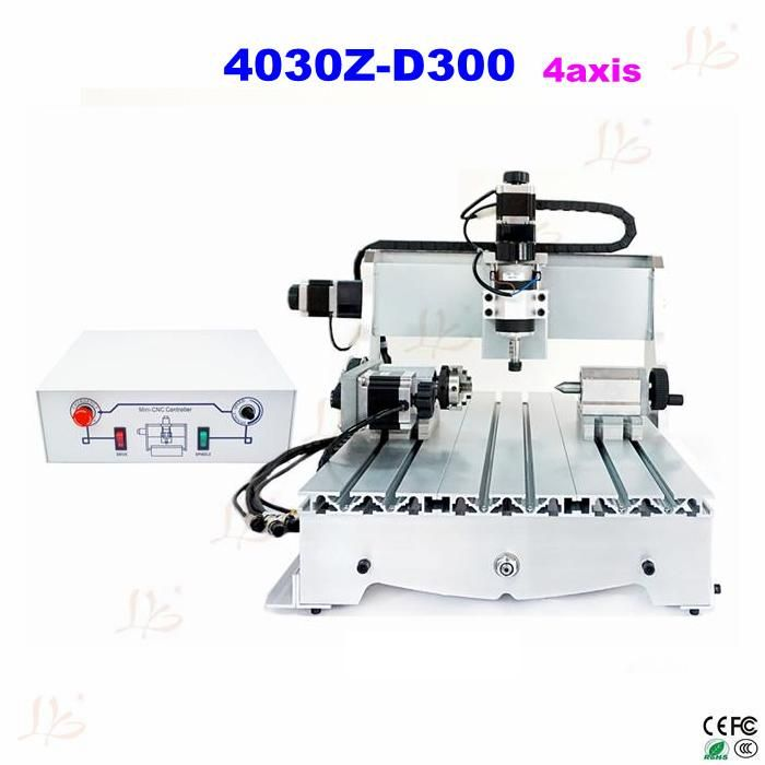 EU no tax  4030Z-D300 4axis CNC Router price carving machine