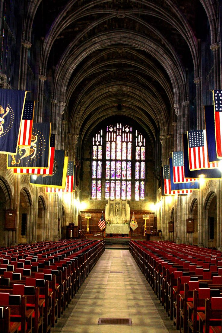 """West Point Cadet Chapel - Demand for wedding slots at this beautiful church far exceeds supply on graduation day. The memoir, PATH to FREEDOM: My Story of Perseverance, includes a description of its allocation-by-lottery, marriage-ceremony system. See www.tcfbusgroup.com for """"BUY"""" links."""