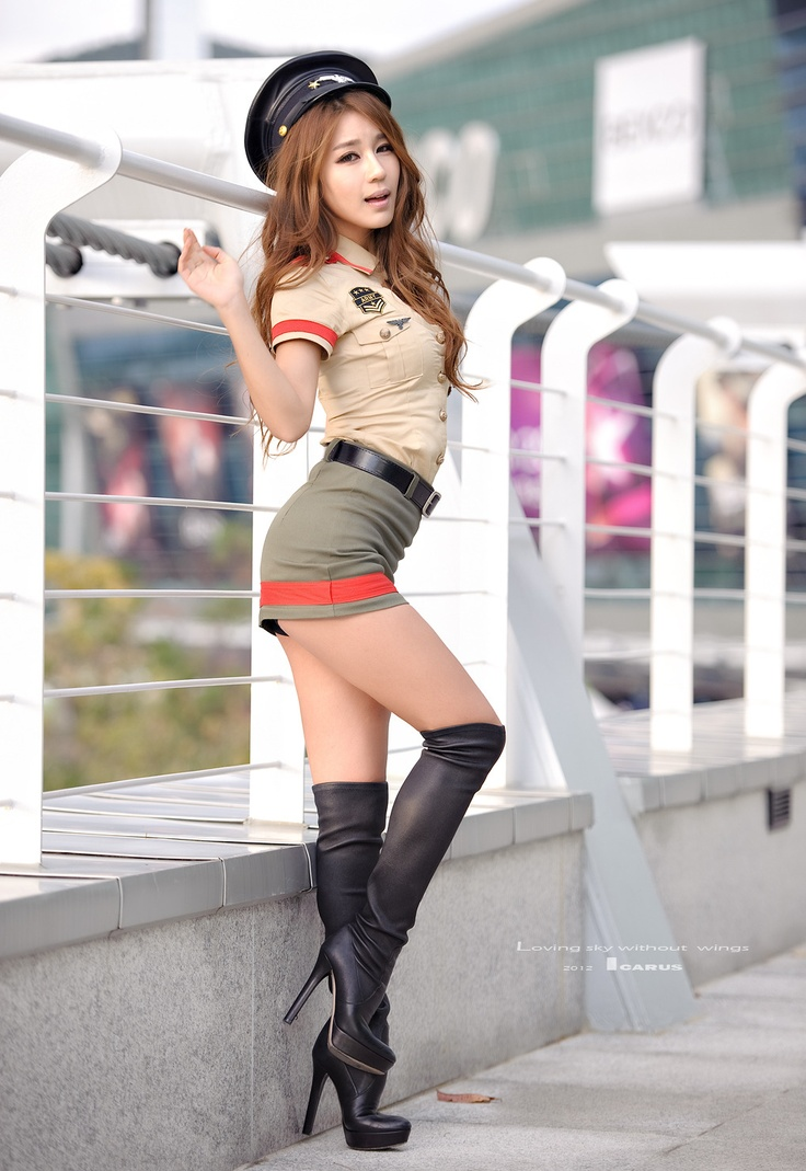 Asian porn girl in boots
