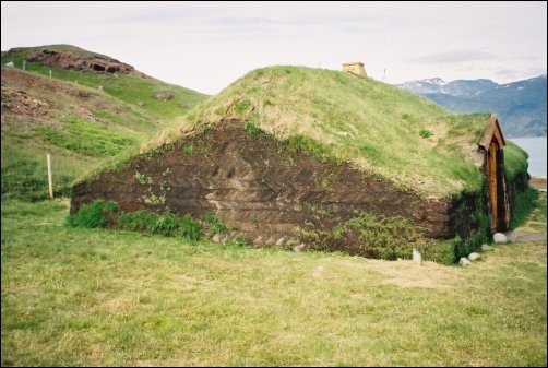Reconstruction of a Norse house at Qassiarsuk