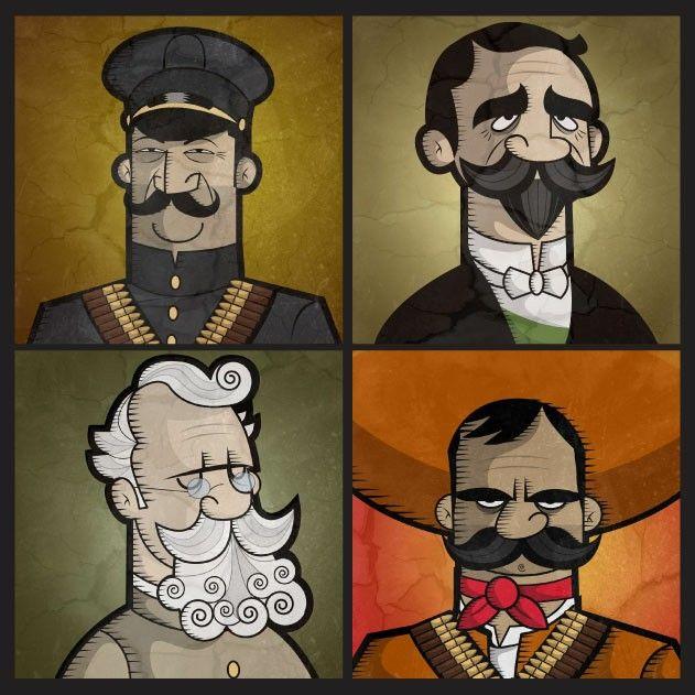 Personajes animados de la Revolución Méxicana