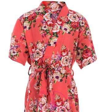 Coral Bridesmaid Robe