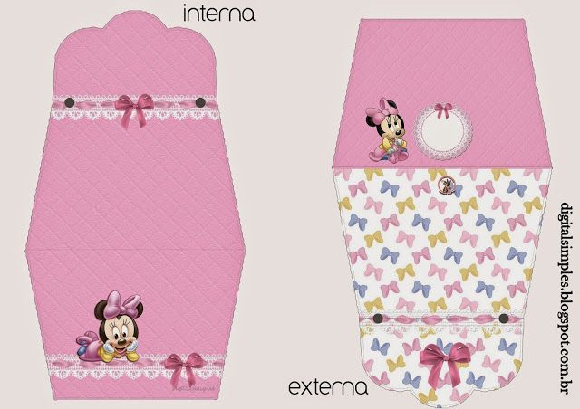 Lovely Minnie Baby: Free Printable Purse Invitations.