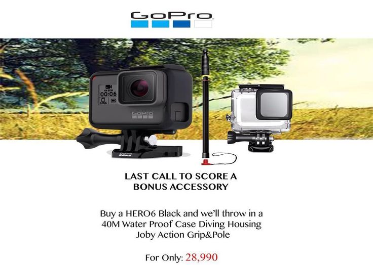 A First Look at the GoPro Hero 64K Ultra HD video at 60fps1080p (Full HD) video at 240 fps12MP photos with 30 fps burst modeHDR and RAW photo supportAdvanced image stabilizationNew GP1 custom image processing chipUpdated voice controlFaster Wi-Fi connectivity2-inch touch display3 microphones with active wind noise reductionWaterproof to 33 feet without need for an enclosureFast-charge compatibleCompatible with existing GoPro accessories and mountsOrder Now! For More details Call: (02) 723…