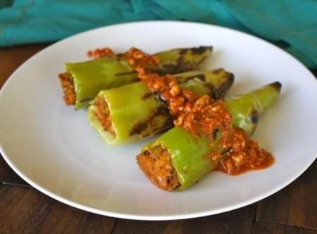 Stuffed and grilled Hungarian peppers Recipe
