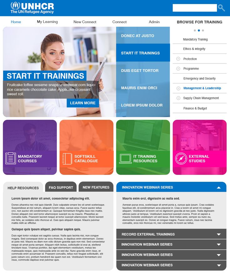 UNHCR Trainings Homepage