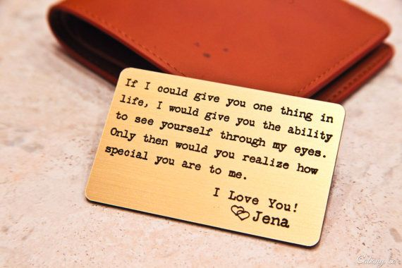 Personalized Wallet Card Engraved Wallet Card Custom Wallet Insert ~  Deployment Gift for him Grooms Gift Valentine's Anniversary Weddings