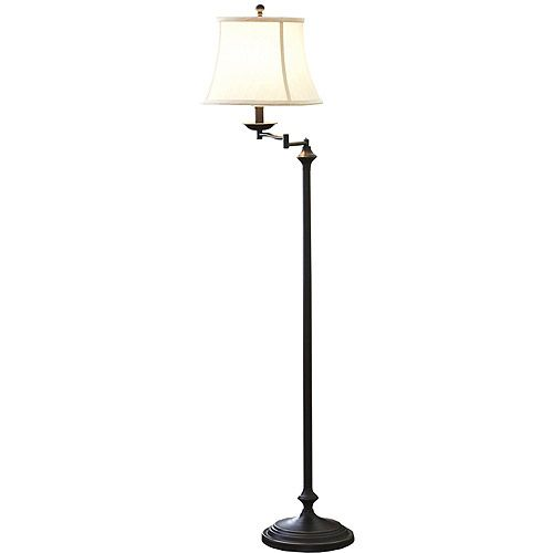 Better Homes And Gardens 59 Swing Arm Floor Lamp Cfl Bulb Included Gardens Reading Lamps