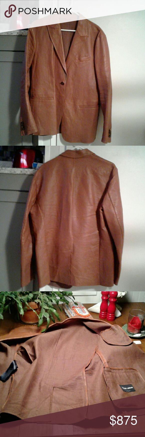 Selling this GIORGIO ARMANI leather jacket EU554 EU56 on Poshmark! My username is: 1955oldman. #shopmycloset #poshmark #fashion #shopping #style #forsale #Giorgio Armani #Other
