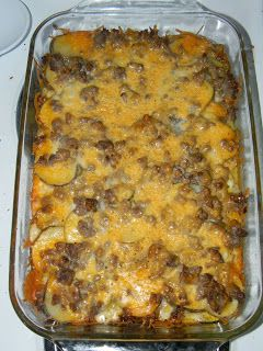 Growing to Four: Hamburger Potato Casserole