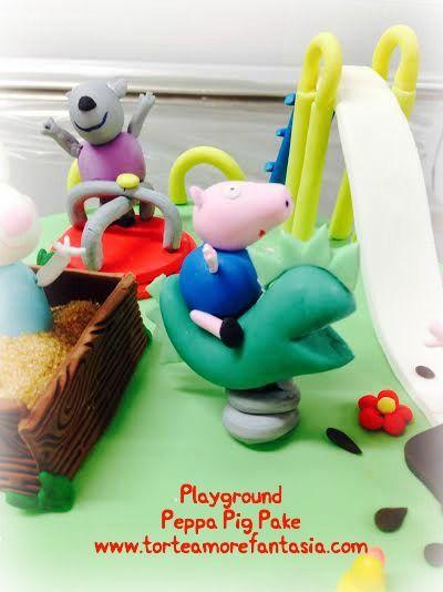 Un parco giochi tutto per festeggiare Giacomo e i suoi 5 anni! scivolo, sabbiera,dinosauro a molla , giostra e tanto divertimento!! Peppa, George , Rebecca Coniglio, Denny Cane e Candy gatto! le immancabili paperelle e tante pozzanghere di Fango! #peppapigcake #peppapig #georgepig #dennycane #candygatto #rebeccaconiglio #dinosauro #playgroundpeppapigcake #giostre # party #compleanno #tortedecorate #castelliromani www.torteamorefantasia.com