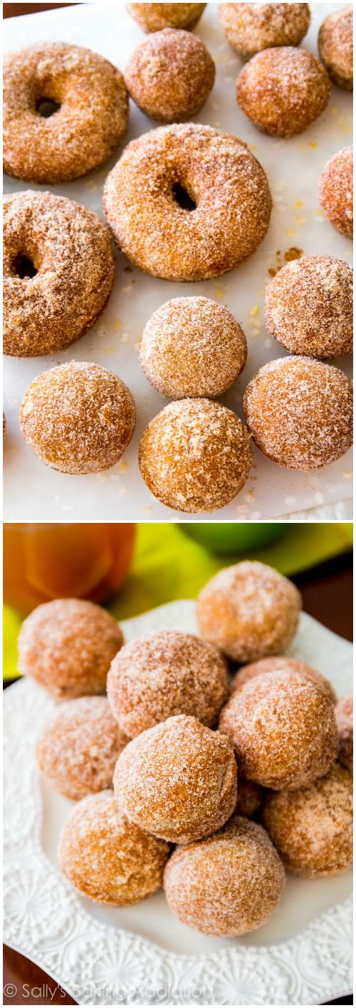 Spiced Apple Cider Donuts - these easy donuts are baked, not fried. And are a must make this fall!