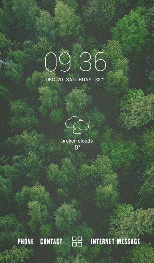 [Homepack Buzz] Check out this awesome homescreen! hello | My Homepack forest