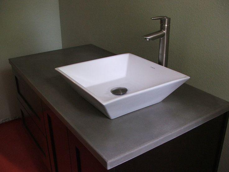 Concrete Bathroom Countertops Bath Gallery Mom S Stuff
