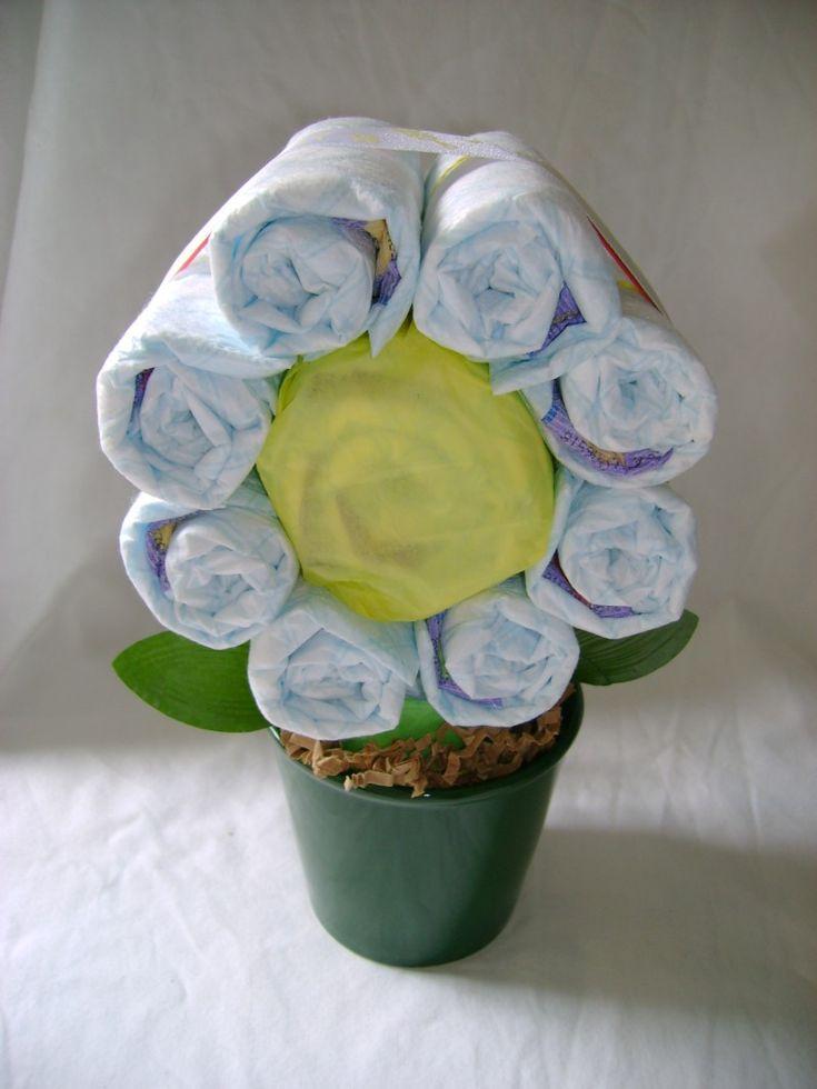 diaper flower
