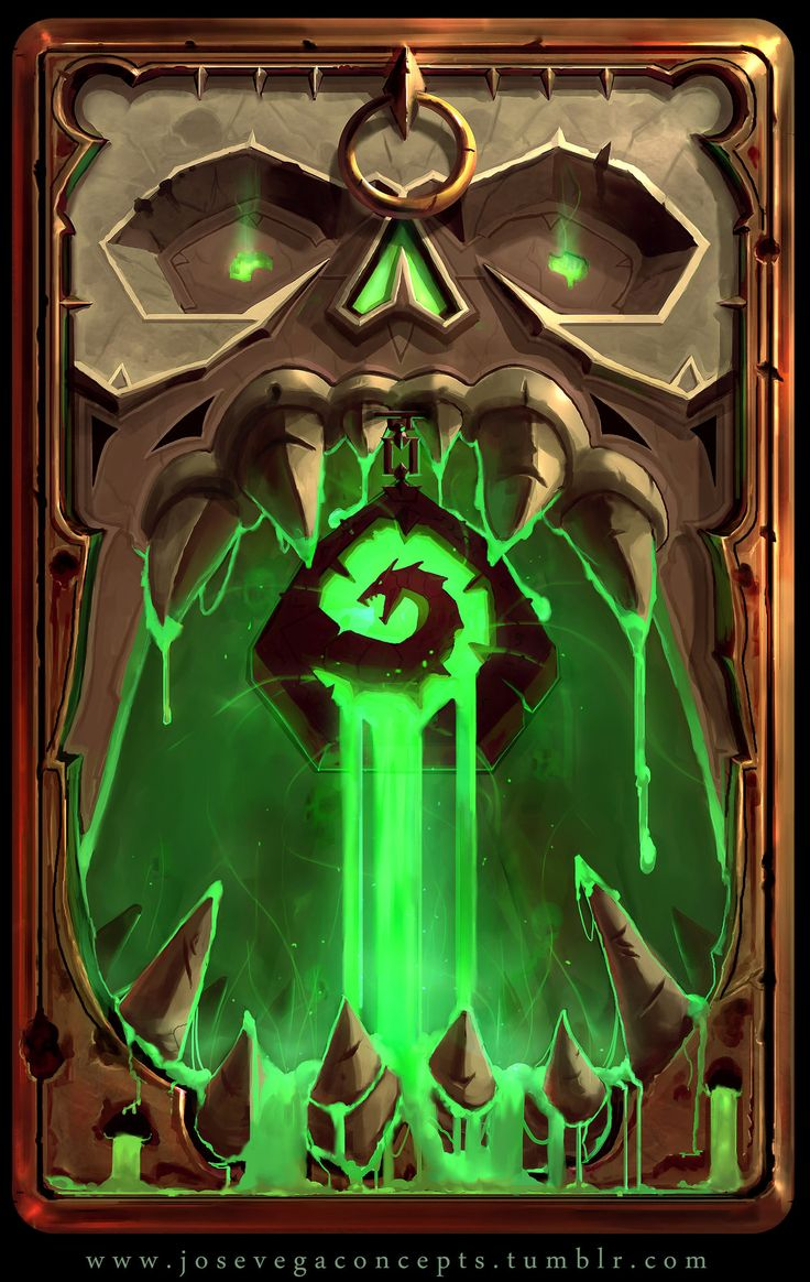 ArtStation - Dungeon Skull Card Back, Jose Vega