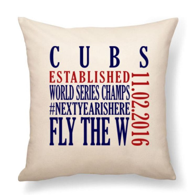 Celebrate the #Chicago #Cubs World Series WIN by personalizing our Thirty One Gifts Statement Pillow!