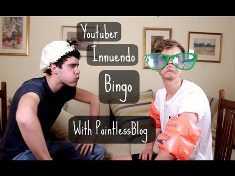 Youtuber Innuendo Bingo With PointlessBlog Thatcher Joe and Pointless Blog what could be better? I wanna try this! They get all wet...lol hence the Innuendo :)