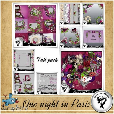 "Mega full pack ""One night in Paris"" by Black Lady Designs"