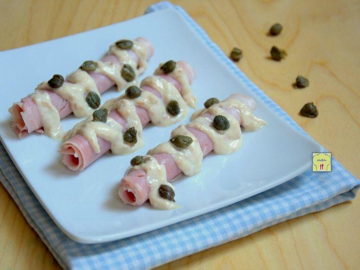 rotolini di prosciutto cotto tonnati #rolledham #tuna